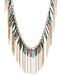 Rosantica By Michela Panero - Metallic Nepal Quartz Fringe Necklace - Lyst