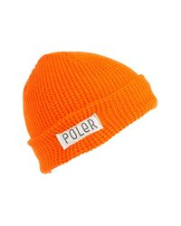 Poler Stuff | Orange 'worker Man' Beanie | Lyst