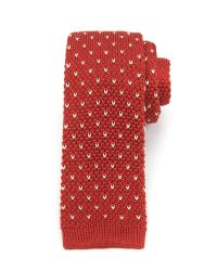 Ted Baker Red Knitted Tie for men
