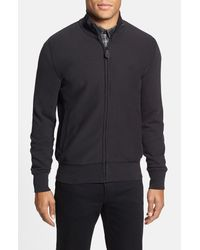 Burberry Brit | Black 'hearst' Trim Fit Full Zip Sweater for Men | Lyst