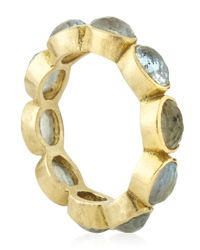 Armenta | Metallic 18K Labradorite Stackable Ring | Lyst