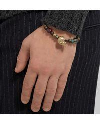 Luis Morais - Metallic Black Pearl Ruby and Bead Bracelet for Men - Lyst