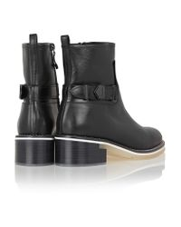 Nicholas Kirkwood Black Microsole Leather Ankle Boots