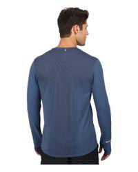 Nike - Blue Dri-fit™ Contour L/s Shirt for Men - Lyst