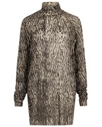 Haider Ackermann Multicolor Grey Leopard-print Fine-knit Jumper