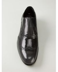 Dolce & Gabbana Black Laceless Brogues for men