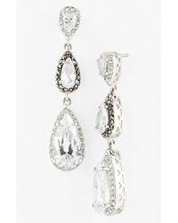 Judith Jack | Metallic Linear Earrings | Lyst