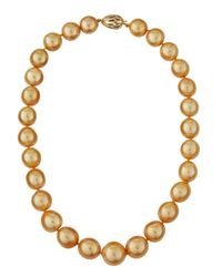 Belpearl | Orange 18 16-13mm Round South Sea Pearl Necklace | Lyst