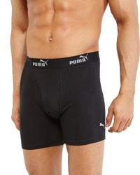 PUMA | Black 3-Pack Boxer Briefs for Men | Lyst