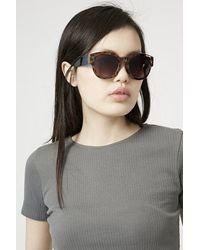 TOPSHOP   Pink Winnie Wayfarer Sunglasses   Lyst