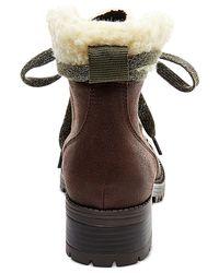 Madden Girl | Brown Bunt Cold Weather Hiker Booties | Lyst