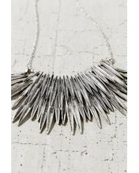 Urban Outfitters - Metallic Burning Rays Statement Necklace - Lyst