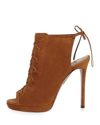 Aquazzura - Brown Hana Suede Ankle Boots - Lyst