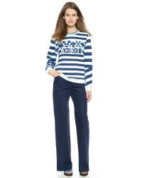 KENZO | Blue Striped Paris Sweatshirt - Aqua | Lyst