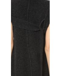 3.1 Phillip Lim - Black Seleeveless Mock Neck Pullover - Lyst
