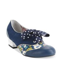 Poetic Licence | Blue Mark My Words Oxford Pumps | Lyst