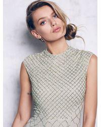 Free People | Green Circle Mesh Dress | Lyst