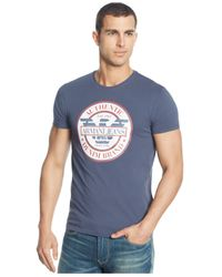 Armani Jeans | Blue Logo Graphic T-shirt for Men | Lyst