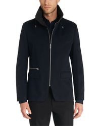 HUGO | Blue Regular Fit Cotton Jacket: 'agidius' for Men | Lyst