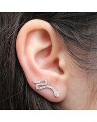 Anne Sisteron - 14kt White Gold Diamond Snake Ear Cuff - Lyst