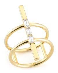 Elizabeth and James | Metallic Dia Riley Double Bar Ring | Lyst
