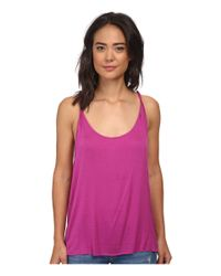 Hurley | Purple Solid Riot Twisted Strap Tank Top | Lyst