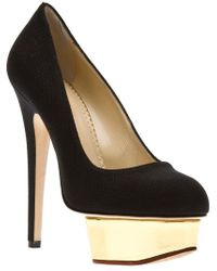Charlotte Olympia - Black 'dolly' Pumps - Lyst