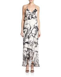 Parker - Multicolor Halle Printed Silk Dress - Lyst