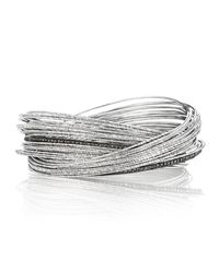 Coomi | Metallic Spring Sterling Silver Bracelet W/ Interlaced Stacks | Lyst