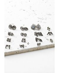 Forever 21 | Metallic Etched Rhinestone Stud Set | Lyst
