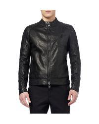 Belstaff - Black Kirkham Tumbledleather Biker Jacket for Men - Lyst
