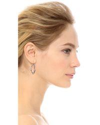 Alexis Bittar - Metallic Jagged Edge Crystal Framed Dangle Earrings - Lyst