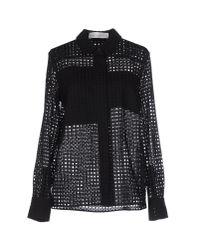 Victoria Beckham - Black Shirt - Lyst