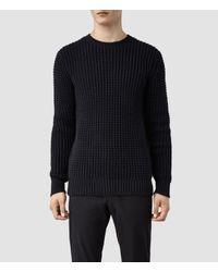 AllSaints - Black Rok Crew Sweater for Men - Lyst