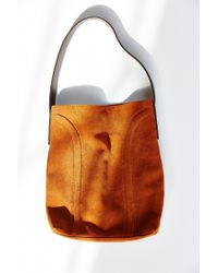 Kimchi Blue - Brown Soft Lines Suede Shoulder Bag - Lyst