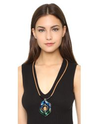 Marni - Blue Resin Necklace - Ink - Lyst
