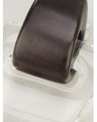 Monies - Brown Double Loop Earrings - Lyst