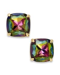 kate spade new york | Metallic New York Goldtone Abalone Small Square Stud Earrings | Lyst