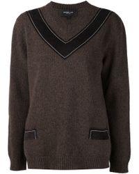 Derek Lam - Brown V-neck Sweater - Lyst