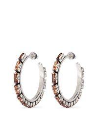 Philippe Audibert Metallic 'paola' Crystal Strass Hoop Earrings
