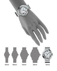 Cartier | Metallic Ballon Bleu De Large Stainless Steel Bracelet Watch | Lyst