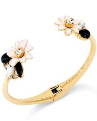 kate spade new york | Metallic 12k Gold-plated Glossy Petals Cuff Bracelet | Lyst