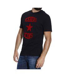 Iceberg | Black T-shirt for Men | Lyst