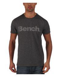Bench | Gray Pilfer Logo Crew Neck Regular Fit T-shirt for Men | Lyst