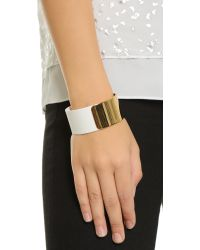 kate spade new york - Metallic Dive In Cuff Bracelet - White - Lyst