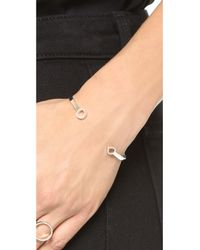 Monica Vinader | Metallic Naida Thin Open Cuff Bracelet - Diamond/silver | Lyst