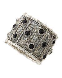 Konstantino - Metallic Sterling Silver & Black Onyx Calliope Cuff Bracelet for Men - Lyst