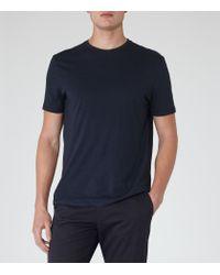 Reiss - Blue Bless Crew Neck T-shirt for Men - Lyst