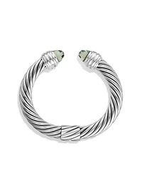 David Yurman | Metallic Cable Classics Bracelet With Prasiolite | Lyst