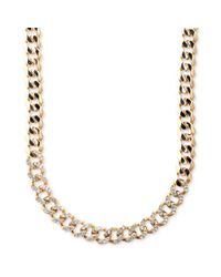 Givenchy | Metallic Goldtone Swarovski Silk Crystal Curb Link Necklace | Lyst